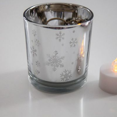Snowflake Tealight Holder - Silver