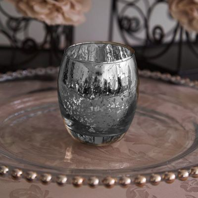Large Rounded Tealight Holder - Silver
