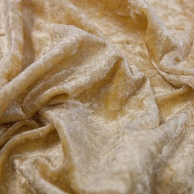 Crushed Velvet Fabric 170cm Wide - Gold