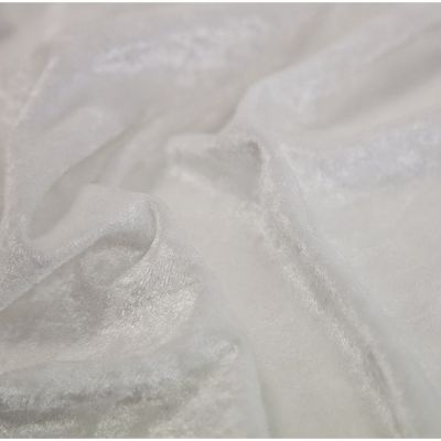 Crushed Velvet Fabric 170cm Wide - White