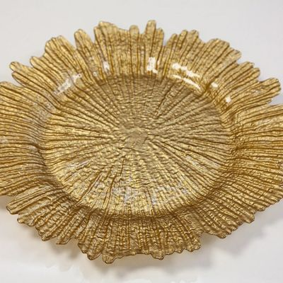 Charger Plate Reef Design - Gold 0126