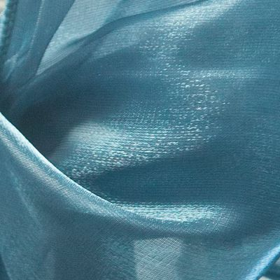 Silk Organza Fabric - Petrol Blue