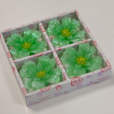 03 Floating Clover Candles 4 Pack - Green
