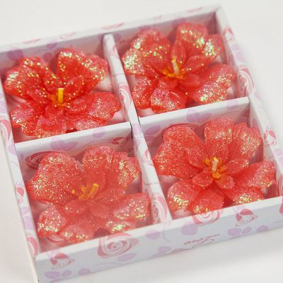 03 Floating Clover Candles 4 Pack - Red