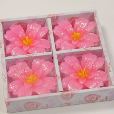 03 Floating Clover Candles 4 Pack - Pink