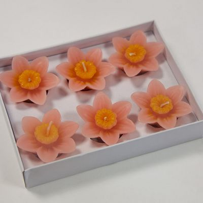 08 Floating Lotus Candles 6 Pack - Peach