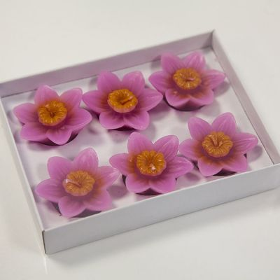 08 Floating Lotus Candles 6 Pack - Fuschia