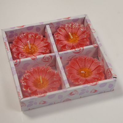 02 Floating Gebra Candles 4 Pack - Red