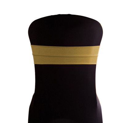 Lycra Chair Bands - Gold