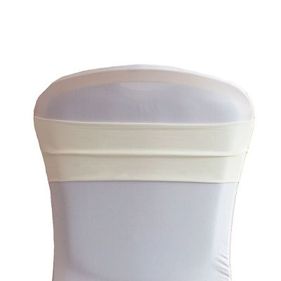 Lycra Chair Bands - Ivory