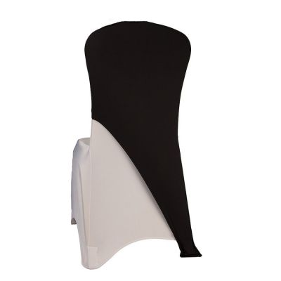 Spandex Lycra Chair Cap Angled - Black