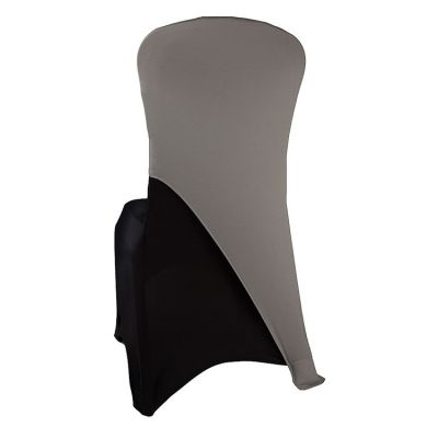 Spandex Lycra Chair Cap Angled - Silver