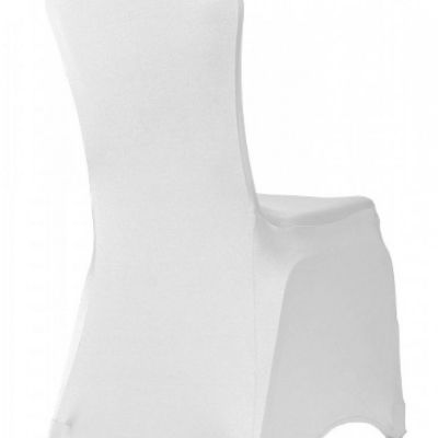 Premium Nylon Lycra Chair Covers - White