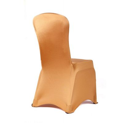 Premium Nylon Lycra Chair Covers - Gold
