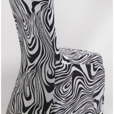 Print Lycra Chair Cover - Zebra