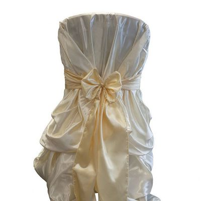 High Gloss Satin Chair Cover - Gold
