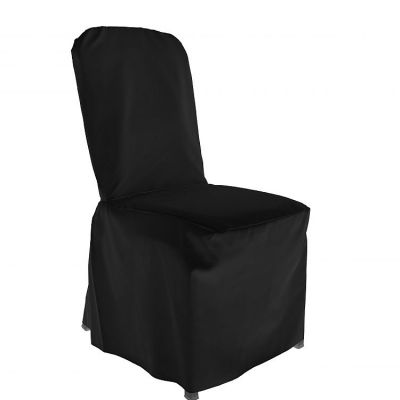 Poly Visa Cover With Pleats - Black