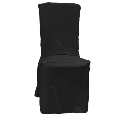 Poly Visa Dining Chair Covers - Black