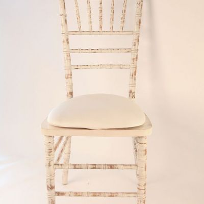 Spandex Seat Pad Covers - Ivory