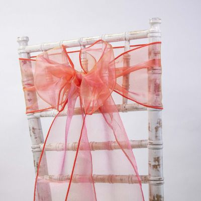 Organza Sash 20cm x 275cm - Yellow/Red