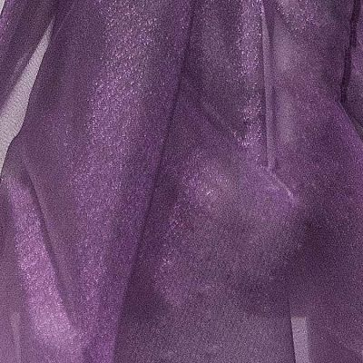 Organza Fabric - Plum