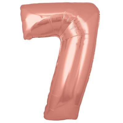 ROSE GOLD BALLOON NUMBER 7