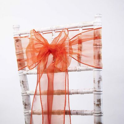 Organza Sash 20cm x 275cm - Orange/Yellow