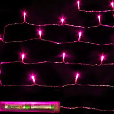 Submersible 15 LED Fairy Lights - Fuchsia