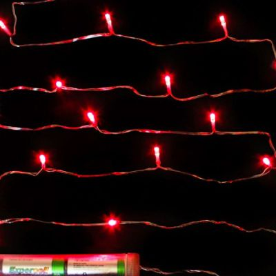 Submersible 15 LED Fairy Lights - Red