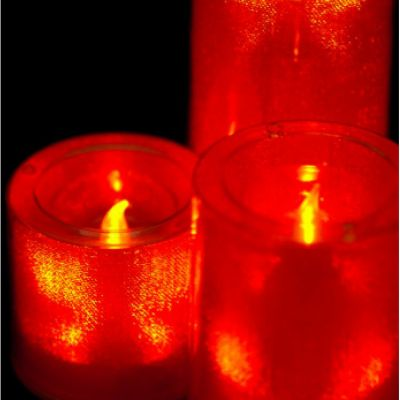 Large LED Candles - Red