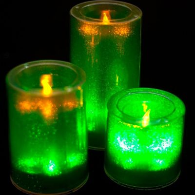 Small LED Candles - Green