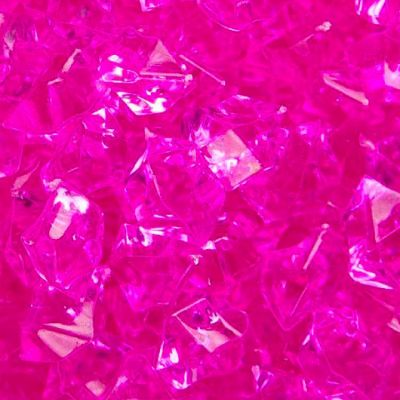 Medium Acrylic Coloured Stones 300g - Hot Pink