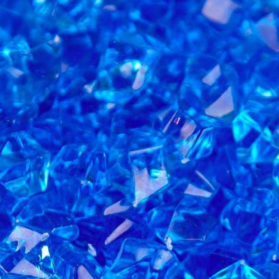 Large Acrylic Coloured Stones 300g - Royal Blue