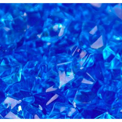 Medium Acrylic Coloured Stones 1kg - Blue