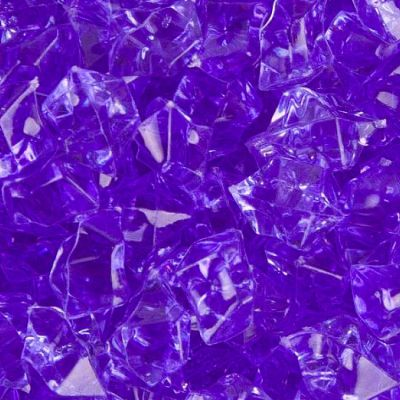 Medium Acrylic Coloured Stones 1kg - Dark Purple