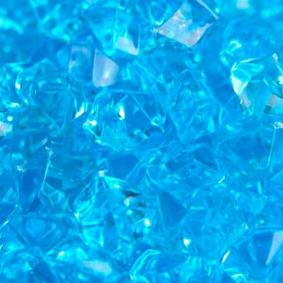 Medium Acrylic Coloured Stones 1kg - Light Blue