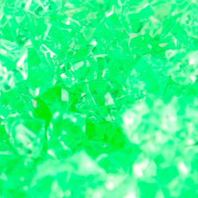 Medium Acrylic Coloured Stones 1kg - Lime