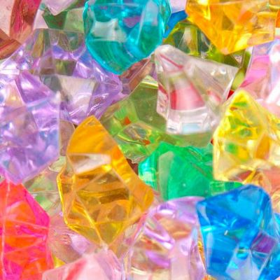 Medium Acrylic Coloured Stones 1kg - Multicoloured