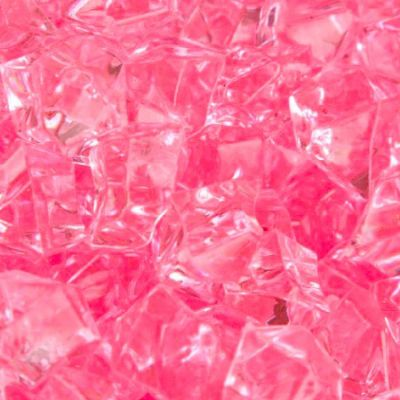 Medium Acrylic Coloured Stones 1kg - Pink