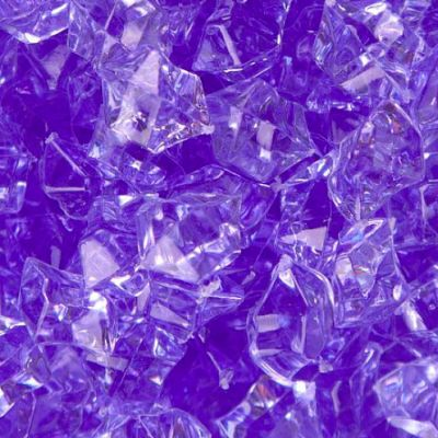 Medium Acrylic Coloured Stones 1kg - Purple