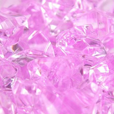 Large Acrylic Coloured Stones 1kg - Lilac