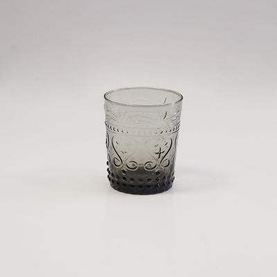 VINTAGE ART DECO SMOKED WATER GLASS