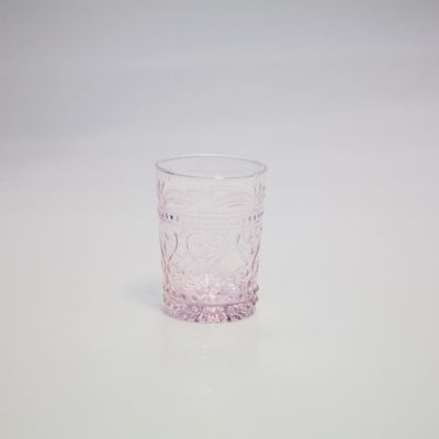 Art Deco Water Glass - Pink