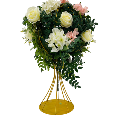 WIRE FLOWER STAND GOLD