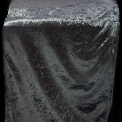 Crushed Velvet Table Runner 35CM x 275CM - Black