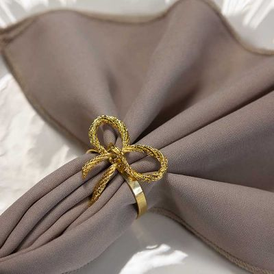 Gold Bow Napkin Ring