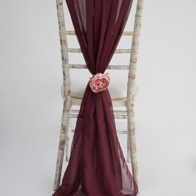 Chiffon Vertical Drops - Burgundy