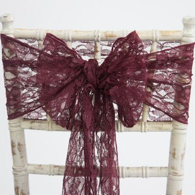 Lace Sash - Burgundy