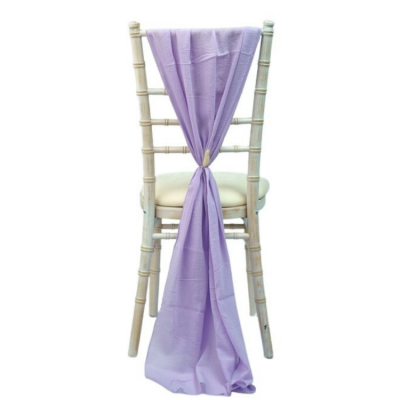 CHEESECLOTH VERTICAL DROP/ HOOD LILAC