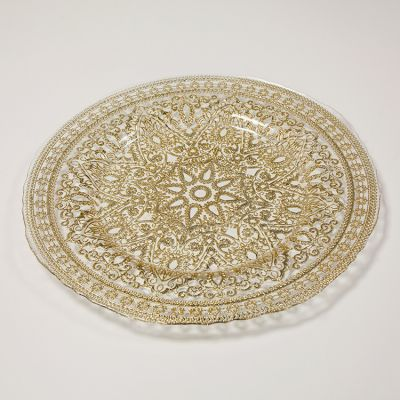 Madala Design Charger Plate Gold